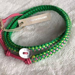 CHAN LUU- wrap bracelet green, yellow, pink. NWT